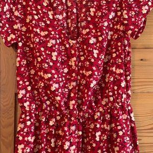 Kimchi Blue Dresses - Red floral mini dress sz S